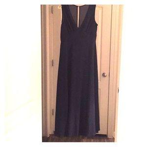 BHLDN Capulet Dress in Navy (Fits Petite 6 or 8)